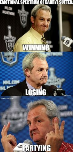 Darryl Sutter. A man of few words and even fewer expressions.