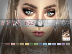Precious Eyes N25 by Pralinesims at TSR via Sims 4 Updates