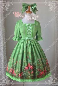 Sweet Magic Tea Party Op Floral Flower Garden Lolita Dress