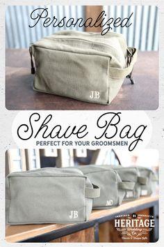 This Personalized Groomsmen Shave Bag in OD Military Green is an excellent quality gift for any guy. This shave bag is a great place to store all the wedding day essentials as well and year-round grooming tools.