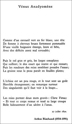 Arthur Rimbaud - Vén