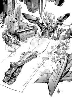 """rhubarbes:"""" rhubarbes:""""by Otto Schmidt.""""More on RHB_RBS"""" Otto Schmidt, Character Concept, Character Art, Concept Art, Cyberpunk 2077, Arte Robot, Alien Art, Fanart, Ex Machina"""
