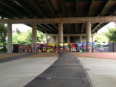 Jefferson & 21st/26th Gateway to Heritage: Jefferson Street underpass mural in North Nashville