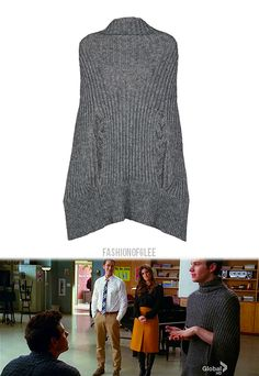 Ever since I saw Kurt Hummel wear this poncho, I've wanted to knit one!
