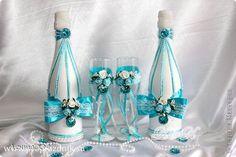 Декор предметов Свадьба Шитьё Свадьба в бирюзе Ткань фото 2