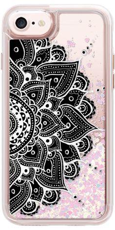Casetify iPhone 7 Glitter Case - Mandala by Li Zamperini Art #Casetify