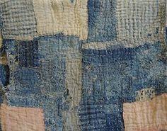 Sashiko Fabric - Butterflies and Sashiko - Sylvia Pippen Sashiko Pre-printed Fabric Kit - Japanese Embroidery, Quilting, Sewing - Embroidery Design Guide Japanese Quilts, Japanese Textiles, Japanese Fabric, Shibori, Boro Stitching, Hand Stitching, Japanese Embroidery, Sashiko Embroidery, Embroidery Patterns