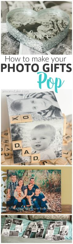 These amazing (and SO EASY) DIY ideas will take an ordinary photo gift to a personalized level in minutes (or seconds). Perfect for Father's Day or other gifts.