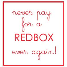 Free Redbox movies....use a code!