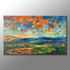 Abstract Painting Large Art Extra Large Wall by GeorgeMillerArt