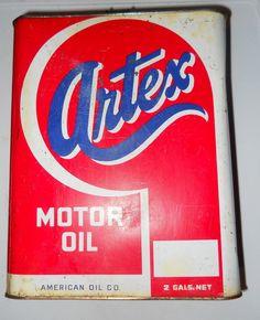 1940's Artex American Oil Company 2 Gallon Oil Can by OtterCreekAntiques, $34.95