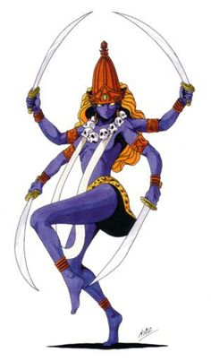 Kali-Persona 3 version. A Hindu goddess associated with death and destruction…