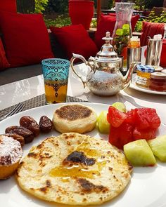 Beautiful breakfast in Morocco.