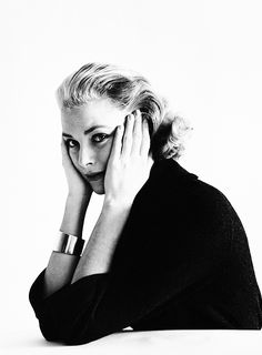 """missavagardner: """" Grace Kelly photographed by Mark Shaw, 1954. """""""