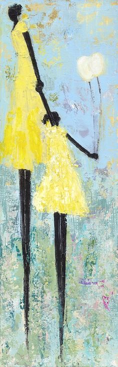 """""""Mommy-Daughter Day"""" by Deborah Shedrick I'd like to recreate this painting :) cute art for ren and I in the playroom or her bedroom Art And Illustration, Illustrations, African American Art, African Art, Arte Tribal, Black Artwork, Afro Art, Mellow Yellow, Art Plastique"""