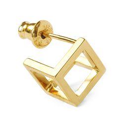 MEHEM silver pierced earring sold MH133-JP061-700 #mehem #piercedearring #silver #goldplated #solid #em #normcore #emgrp