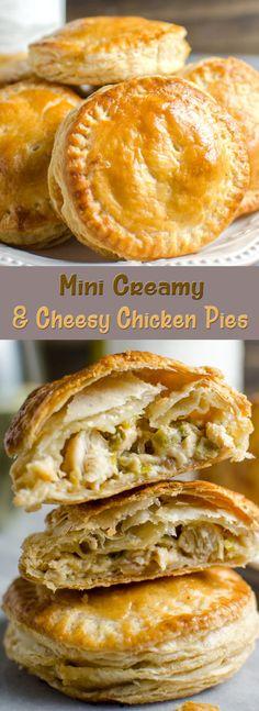 Mini Creamy and Cheesy Chicken Pies