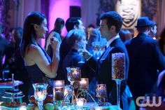 "The Originals -- ""Moon Over Bourbon Street"" -- Image Number: OR117b_0387.jpg -- Pictured (L-R): Peta Sergeant as Francesca and Daniel Gillies as Elijah -- Photo: Quantrell Colbert /The CW -- © 2014 The CW Network, LLC. All rights reserved."