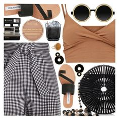 """If, Davido"" by blendasantos ❤ liked on Polyvore featuring Cult Gaia, Zimmermann, Steve Madden, Moscot, Rimmel, Ginette NY, Summer and picnic"