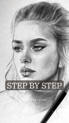 Art Drawings Beautiful, Art Drawings Sketches Simple, Pencil Art Drawings, Realistic Drawings, Eye Pencil Drawing, Portrait Sketches, Pencil Sketch Portrait, Drawing Portraits, Sketch Painting