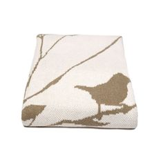 Birdy Blanket Khaki By In2green Spark Living Online Boutique For Unique Home Decor
