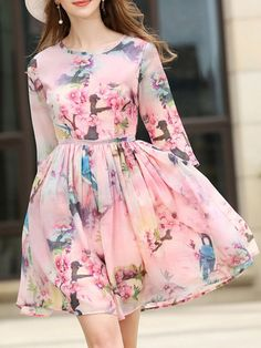 Shop Pink Flowers Print Pleated Dress online. SheIn offers Pink Flowers Print Pleated Dress & more to fit your fashionable needs.