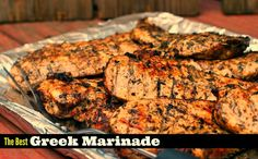 You won't believe the secret to The BEST Greek marinade for chicken, steak and pork. The most juicy chicken ever! No more dry chicken breast! Asian Marinade For Chicken, Chicken Steak, Chicken Marinades, Chicken Fajitas, Grilled Chicken, Steak Marinades, Baked Chicken, Greek Recipes, Pork Recipes