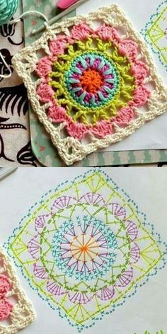 FREE Granny Square crochet pattern - Pinned by intheloopcrafts.blogspot.com