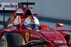 Sebastian Vettel (GER) Ferrari SF15-T at Formula One Testing, Day Four, Barcelona, Spain, 22 February 2015