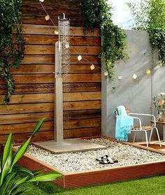 Garden shower - Architettura - mobile & prefab homes - Vorhang