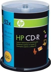 HP 100 Spindle CDR 52X 700MB . $17.90