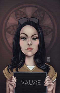 Alex Vause, Orange is the new Black serie character Digital Painting. Alex Vause, Orange Is The New Black, Alex E Piper, Blue Brown Hair, Piper Chapman, Laura Prepon, Player One, Film Serie, Love Drawings