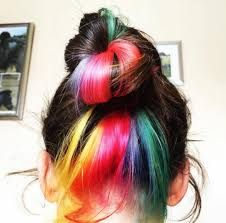 104 Pastel and Hidden Rainbow Hair color Ideas, – unterhellt Haare Hairstyles For School, Diy Hairstyles, Hidden Rainbow Hair, Underlights Hair, Coloured Hair, Hair Blog, Crazy Hair, Cool Hair Color, Balayage Hair
