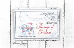 Dreams Factory: Christmas postcard wood signs - Placute decorative carti postale de Craciun