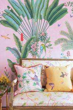 de-gournay-wallpaper-tropical-wall paper