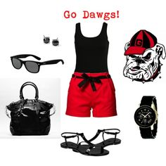 Early season game day outfit - Go Dawgs! #georgia #bulldogs #uga