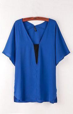 cute blue top