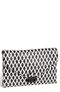 Loeffler Randall 'Lock' Leather Clutch available at #Nordstrom