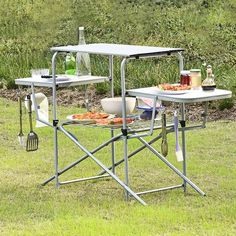 Folding Bbq, Outdoor Folding Table, Folding Camping Table, Outdoor Picnic Tables, Foldable Picnic Table, Outdoor Camping, Camping Grill, Grilling, Camping Kitchen