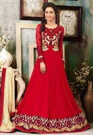 indian dress red color - Google Search Anarkali Frock, New Kurti Designs, Shraddha Kapoor, India Beauty, Summer Wear, Indian Dresses, Frocks, Couture, Formal Dresses
