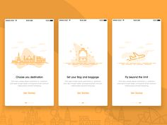 lil glimpse of a recent project on travel app.hope you will like it.  Show me some love pressing