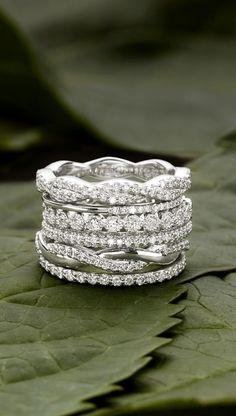 Stacked Eternity Bands by Brilliant Earth ... one for every 5 or 10 years ... yes please