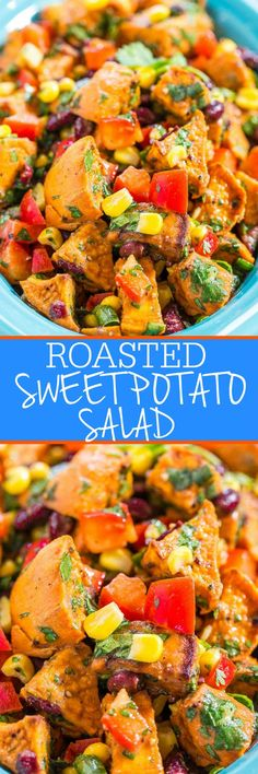 I've never been a fan of traditional potato salad. Mushy, mayo-ey, too monotone white carby, and just not my thing. But this sweet potato salad puts 'potato salad' in a whole new light.  I love sweet