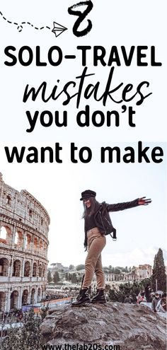 8 Female Solo Travel Mistakes To Avoid – Are you preparing for a Solo Trip? Don't make these common solo travel mistakes. It's important to be safe when you are a woman traveling alone abroad. A lot of tips for solo female travelers that will hop Restaurants In Paris, Tips For Traveling Alone, Traveling By Yourself, Traveling Solo Woman, Couple Travel, Voyager Seul, Solo Travel Tips, Travel Channel, Solo Travel Europe