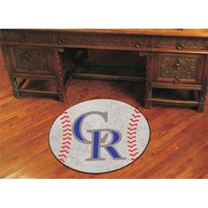 Colorado Rockies MLB Baseball Round Floor Mat (29)
