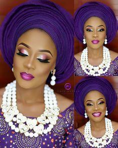 African Makeup, African Beauty, African Women, Natural Wedding Makeup, Wedding Makeup Looks, Black Girl Makeup, Girls Makeup, African Fashion Dresses, African Dress