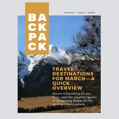 Travel Destinations For March – A Quick Overview Easter Holidays, Plan Your Trip, Knock Knock, Spring Break, Travel Destinations, Traveling, Mexico, March, Weather