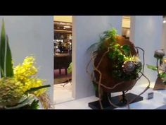 Ikebana Display Exhibition (Friendship through Flowers) 2013 @ Paragon Shopping Centre - YouTube