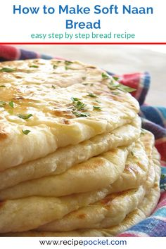 This naan bread recipe is easy and eggless and healthy to make. This homemade In… This naan bread recipe is easy and eggless and healthy to make. This homemade Indian bread is fast to cook in a skillet. Soft and… Continue Reading → Make Naan Bread, How To Make Naan, Homemade Naan Bread, Recipes With Naan Bread, Best Bread Recipe, Food To Make, Bread Making, Garlic Naan Bread Recipe Easy, Naan Bread Recipe No Yogurt