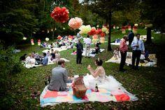 Picknick im großen Garten